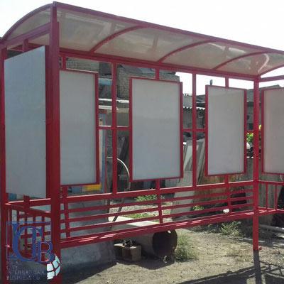 ساخت ایستگاه اتوبوس فلزی