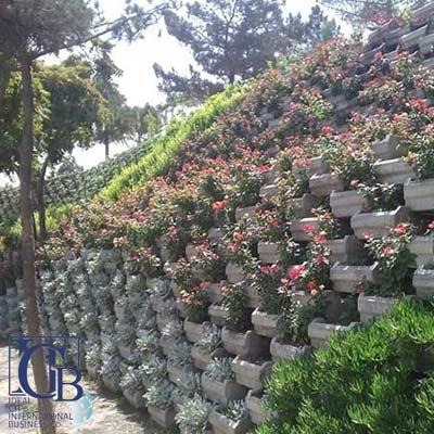 گلدان شیب بندی